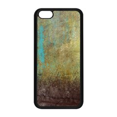 Aqua Textured Abstract Apple Iphone 5c Seamless Case (black) by theunrulyartist