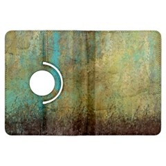 Aqua Textured Abstract Kindle Fire Hdx Flip 360 Case by theunrulyartist