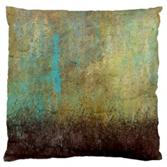 Aqua Textured Abstract Standard Flano Cushion Case (two Sides)