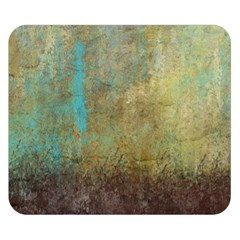 Aqua Textured Abstract Double Sided Flano Blanket (small)
