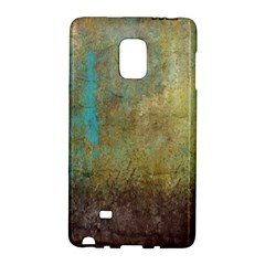 Aqua Textured Abstract Galaxy Note Edge by theunrulyartist