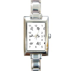 Set Of Black Web Dings On White Background Abstract Symbols Rectangle Italian Charm Watch by Amaryn4rt