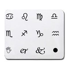 Set Of Black Web Dings On White Background Abstract Symbols Large Mousepads by Amaryn4rt