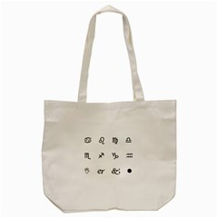 Set Of Black Web Dings On White Background Abstract Symbols Tote Bag (cream) by Amaryn4rt