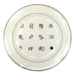 Set Of Black Web Dings On White Background Abstract Symbols Porcelain Plates by Amaryn4rt