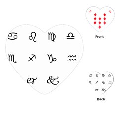 Set Of Black Web Dings On White Background Abstract Symbols Playing Cards (heart)  by Amaryn4rt