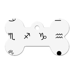 Set Of Black Web Dings On White Background Abstract Symbols Dog Tag Bone (two Sides) by Amaryn4rt