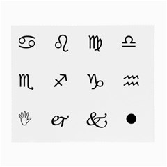 Set Of Black Web Dings On White Background Abstract Symbols Small Glasses Cloth (2 Side) by Amaryn4rt