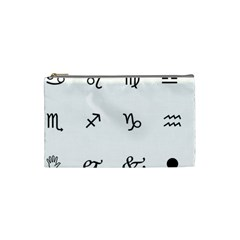 Set Of Black Web Dings On White Background Abstract Symbols Cosmetic Bag (small)  by Amaryn4rt
