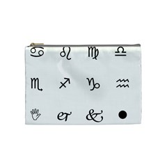 Set Of Black Web Dings On White Background Abstract Symbols Cosmetic Bag (medium)  by Amaryn4rt