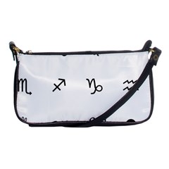 Set Of Black Web Dings On White Background Abstract Symbols Shoulder Clutch Bags by Amaryn4rt