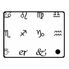 Set Of Black Web Dings On White Background Abstract Symbols Fleece Blanket (small) by Amaryn4rt