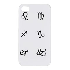 Set Of Black Web Dings On White Background Abstract Symbols Apple Iphone 4/4s Hardshell Case by Amaryn4rt