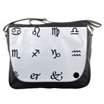 Set Of Black Web Dings On White Background Abstract Symbols Messenger Bags Front