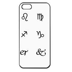Set Of Black Web Dings On White Background Abstract Symbols Apple Iphone 5 Seamless Case (black) by Amaryn4rt