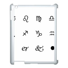 Set Of Black Web Dings On White Background Abstract Symbols Apple Ipad 3/4 Case (white) by Amaryn4rt