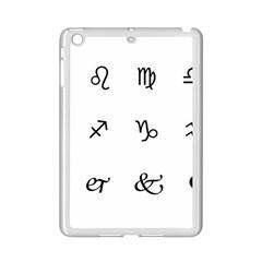 Set Of Black Web Dings On White Background Abstract Symbols Ipad Mini 2 Enamel Coated Cases by Amaryn4rt