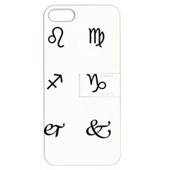 Set Of Black Web Dings On White Background Abstract Symbols Apple Iphone 5 Hardshell Case With Stand by Amaryn4rt