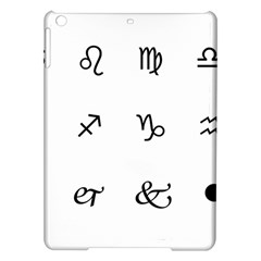 Set Of Black Web Dings On White Background Abstract Symbols Ipad Air Hardshell Cases by Amaryn4rt