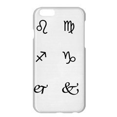 Set Of Black Web Dings On White Background Abstract Symbols Apple iPhone 6 Plus/6S Plus Hardshell Case