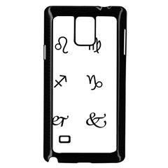 Set Of Black Web Dings On White Background Abstract Symbols Samsung Galaxy Note 4 Case (black) by Amaryn4rt