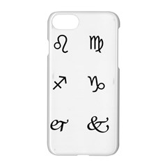 Set Of Black Web Dings On White Background Abstract Symbols Apple Iphone 7 Hardshell Case by Amaryn4rt