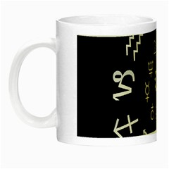 Astrology Chart With Signs And Symbols From The Zodiac Gold Colors Night Luminous Mugs by Amaryn4rt