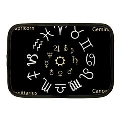 Astrology Chart With Signs And Symbols From The Zodiac Gold Colors Netbook Case (medium)  by Amaryn4rt