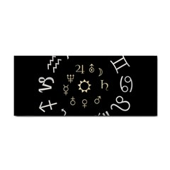 Astrology Chart With Signs And Symbols From The Zodiac Gold Colors Cosmetic Storage Cases by Amaryn4rt