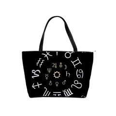 Astrology Chart With Signs And Symbols From The Zodiac Gold Colors Shoulder Handbags by Amaryn4rt
