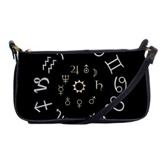 Astrology Chart With Signs And Symbols From The Zodiac Gold Colors Shoulder Clutch Bags by Amaryn4rt