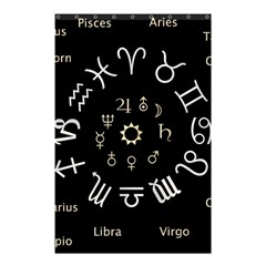 Astrology Chart With Signs And Symbols From The Zodiac Gold Colors Shower Curtain 48  X 72  (small)  by Amaryn4rt