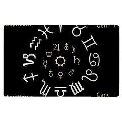 Astrology Chart With Signs And Symbols From The Zodiac Gold Colors Apple Ipad 2 Flip Case by Amaryn4rt