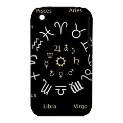 Astrology Chart With Signs And Symbols From The Zodiac Gold Colors Iphone 3s/3gs by Amaryn4rt