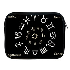 Astrology Chart With Signs And Symbols From The Zodiac Gold Colors Apple Ipad 2/3/4 Zipper Cases by Amaryn4rt
