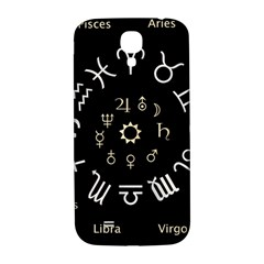 Astrology Chart With Signs And Symbols From The Zodiac Gold Colors Samsung Galaxy S4 I9500/i9505  Hardshell Back Case by Amaryn4rt