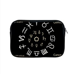 Astrology Chart With Signs And Symbols From The Zodiac Gold Colors Apple Macbook Pro 15  Zipper Case by Amaryn4rt