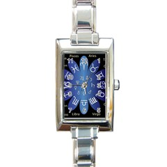 Astrology Birth Signs Chart Rectangle Italian Charm Watch by Amaryn4rt