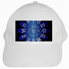 Astrology Birth Signs Chart White Cap by Amaryn4rt