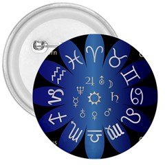 Astrology Birth Signs Chart 3  Buttons by Amaryn4rt