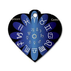 Astrology Birth Signs Chart Dog Tag Heart (two Sides) by Amaryn4rt