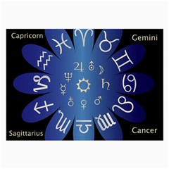 Astrology Birth Signs Chart Large Glasses Cloth by Amaryn4rt