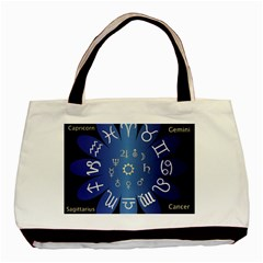Astrology Birth Signs Chart Basic Tote Bag (two Sides) by Amaryn4rt