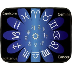 Astrology Birth Signs Chart Double Sided Fleece Blanket (mini)  by Amaryn4rt