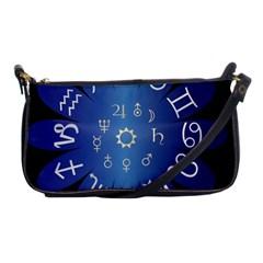 Astrology Birth Signs Chart Shoulder Clutch Bags by Amaryn4rt