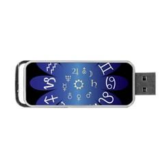 Astrology Birth Signs Chart Portable Usb Flash (one Side) by Amaryn4rt