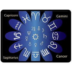 Astrology Birth Signs Chart Double Sided Fleece Blanket (large)  by Amaryn4rt