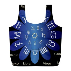 Astrology Birth Signs Chart Full Print Recycle Bags (l)  by Amaryn4rt