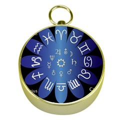 Astrology Birth Signs Chart Gold Compasses by Amaryn4rt
