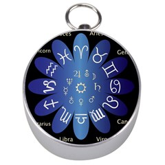 Astrology Birth Signs Chart Silver Compasses by Amaryn4rt